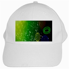 Geometric Shapes Letters Cubes Green Blue White Cap by Mariart