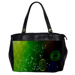 Geometric Shapes Letters Cubes Green Blue Office Handbags by Mariart
