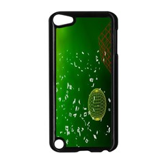 Geometric Shapes Letters Cubes Green Blue Apple Ipod Touch 5 Case (black) by Mariart