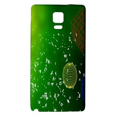 Geometric Shapes Letters Cubes Green Blue Galaxy Note 4 Back Case by Mariart