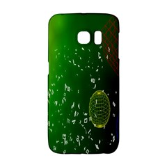 Geometric Shapes Letters Cubes Green Blue Galaxy S6 Edge by Mariart