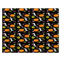 Ghost Pumkin Craft Halloween Hearts Rectangular Jigsaw Puzzl by Mariart