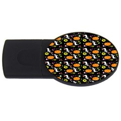 Ghost Pumkin Craft Halloween Hearts Usb Flash Drive Oval (4 Gb) by Mariart