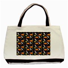 Ghost Pumkin Craft Halloween Hearts Basic Tote Bag by Mariart