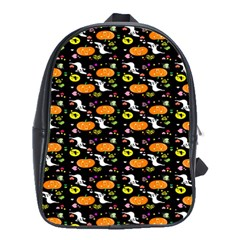 Ghost Pumkin Craft Halloween Hearts School Bags(large)  by Mariart