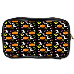 Ghost Pumkin Craft Halloween Hearts Toiletries Bags by Mariart