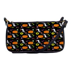 Ghost Pumkin Craft Halloween Hearts Shoulder Clutch Bags by Mariart