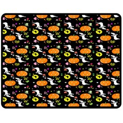 Ghost Pumkin Craft Halloween Hearts Fleece Blanket (medium)  by Mariart