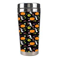 Ghost Pumkin Craft Halloween Hearts Stainless Steel Travel Tumblers by Mariart