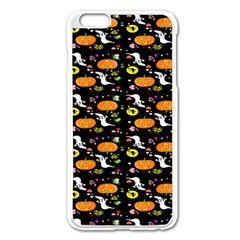 Ghost Pumkin Craft Halloween Hearts Apple Iphone 6 Plus/6s Plus Enamel White Case by Mariart