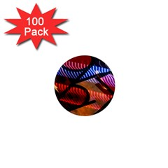 Graphic Shapes Experimental Rainbow Color 1  Mini Magnets (100 Pack)  by Mariart