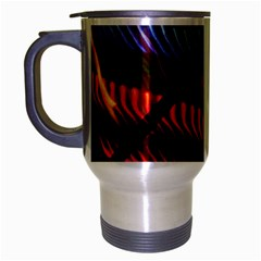Graphic Shapes Experimental Rainbow Color Travel Mug (silver Gray) by Mariart