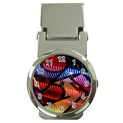 Graphic Shapes Experimental Rainbow Color Money Clip Watches by Mariart