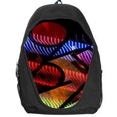 Graphic Shapes Experimental Rainbow Color Backpack Bag by Mariart