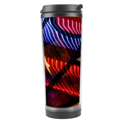 Graphic Shapes Experimental Rainbow Color Travel Tumbler by Mariart