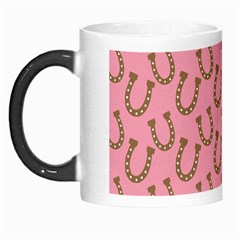 Horse Shoes Iron Pink Brown Morph Mugs by Mariart