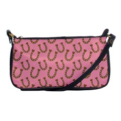 Horse Shoes Iron Pink Brown Shoulder Clutch Bags by Mariart
