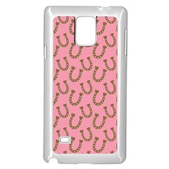 Horse Shoes Iron Pink Brown Samsung Galaxy Note 4 Case (white) by Mariart