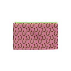 Horse Shoes Iron Pink Brown Cosmetic Bag (xs) by Mariart