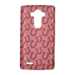 Horse Shoes Iron Pink Brown Lg G4 Hardshell Case by Mariart