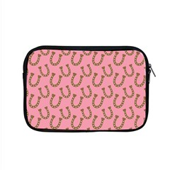 Horse Shoes Iron Pink Brown Apple Macbook Pro 15  Zipper Case by Mariart