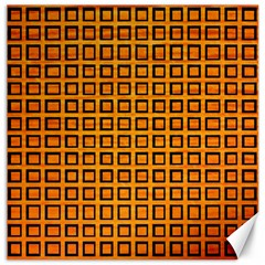 Halloween Squares Plaid Orange Canvas 16  X 16   by Mariart