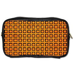 Halloween Squares Plaid Orange Toiletries Bags 2 Side by Mariart