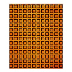 Halloween Squares Plaid Orange Shower Curtain 60  X 72  (medium)  by Mariart