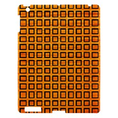 Halloween Squares Plaid Orange Apple Ipad 3/4 Hardshell Case by Mariart