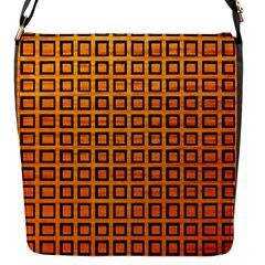 Halloween Squares Plaid Orange Flap Messenger Bag (s) by Mariart