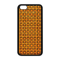 Halloween Squares Plaid Orange Apple Iphone 5c Seamless Case (black) by Mariart