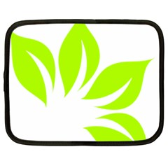 Leaf Green White Netbook Case (large) by Mariart