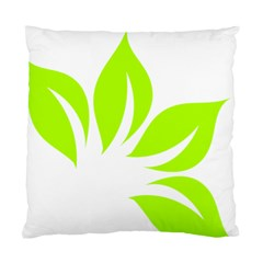 Leaf Green White Standard Cushion Case (one Side) by Mariart