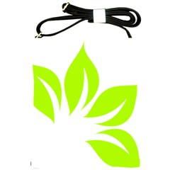 Leaf Green White Shoulder Sling Bags by Mariart