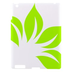 Leaf Green White Apple Ipad 3/4 Hardshell Case by Mariart