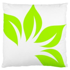 Leaf Green White Large Cushion Case (two Sides) by Mariart