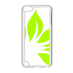 Leaf Green White Apple Ipod Touch 5 Case (white) by Mariart