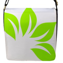 Leaf Green White Flap Messenger Bag (s) by Mariart