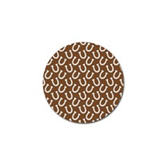 Horse Shoes Iron White Brown Golf Ball Marker by Mariart