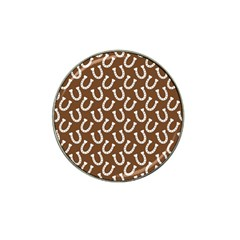 Horse Shoes Iron White Brown Hat Clip Ball Marker (10 Pack) by Mariart