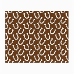 Horse Shoes Iron White Brown Small Glasses Cloth (2 Side) by Mariart
