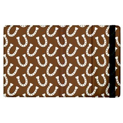 Horse Shoes Iron White Brown Apple Ipad 2 Flip Case by Mariart