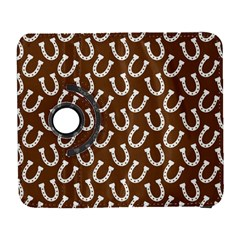 Horse Shoes Iron White Brown Galaxy S3 (flip/folio) by Mariart