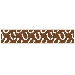 Horse Shoes Iron White Brown Flano Scarf (large) by Mariart
