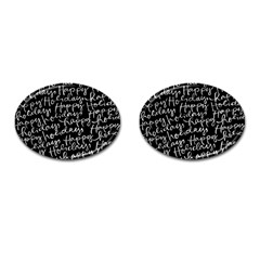 Happy Holidays Cufflinks (oval) by Mariart
