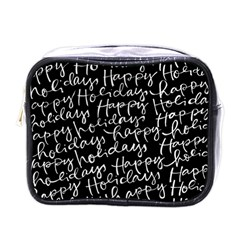 Happy Holidays Mini Toiletries Bags by Mariart