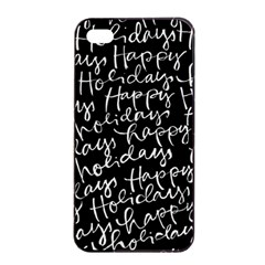 Happy Holidays Apple Iphone 4/4s Seamless Case (black) by Mariart