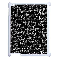 Happy Holidays Apple Ipad 2 Case (white) by Mariart