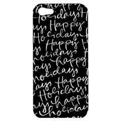 Happy Holidays Apple Iphone 5 Hardshell Case by Mariart