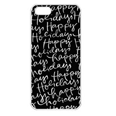 Happy Holidays Apple Iphone 5 Seamless Case (white) by Mariart